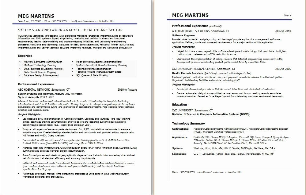 Health Care Business Analyst Resume New Healthcare It