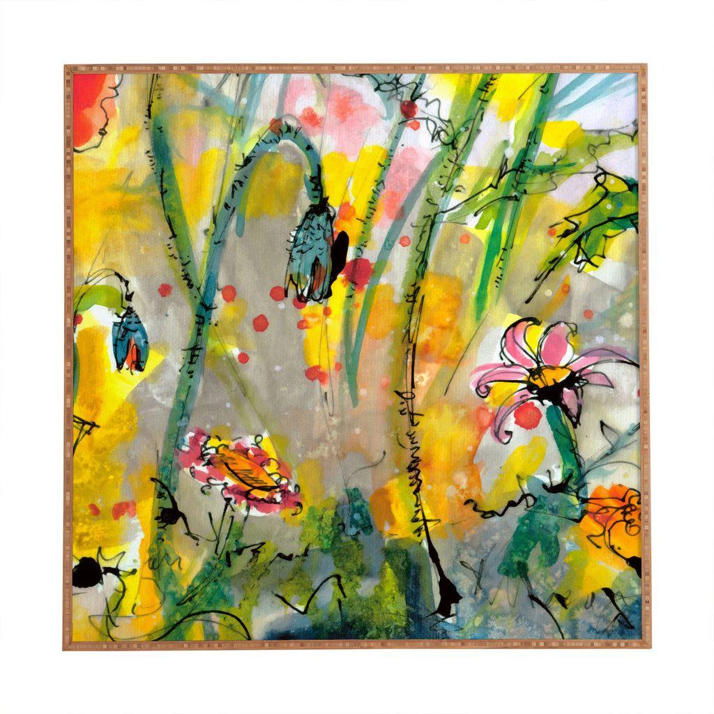 Ginette Fine Art Wildflowers 1 Framed Wall Art | DENY Designs Home ...
