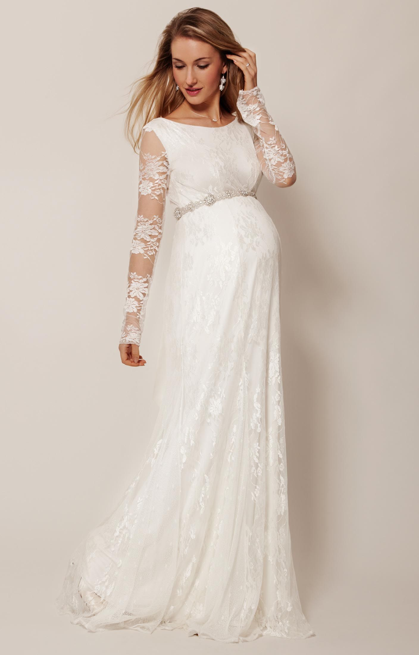 Helena gown long vintage inspired gowns and weddings vintage inspired helena full length maternity wedding gown has a gorgeous streamlined fishtail shape thats ombrellifo Image collections