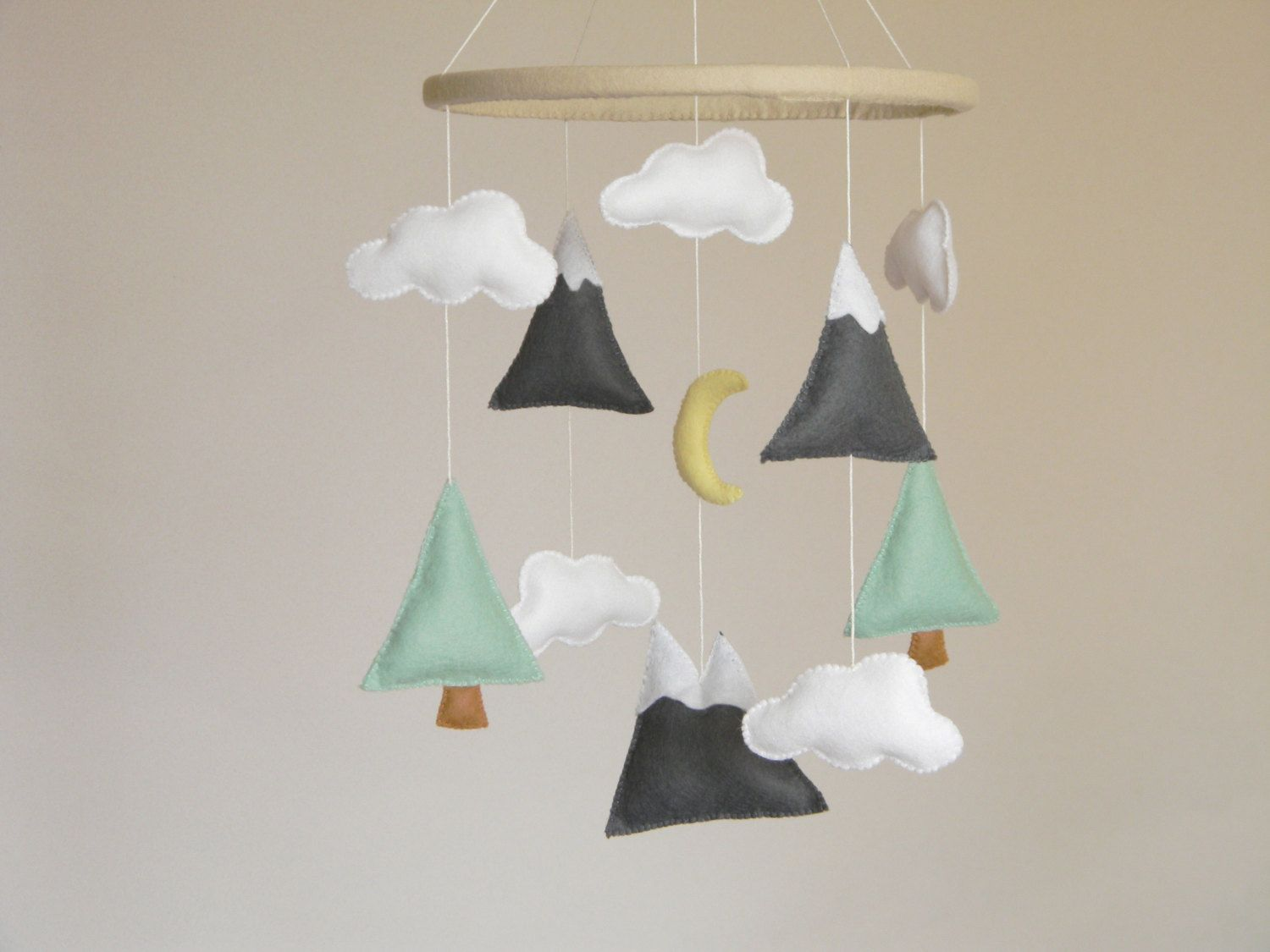 Baby Mobile Mountains Baby Mobile Baby Crib Mobile Modern
