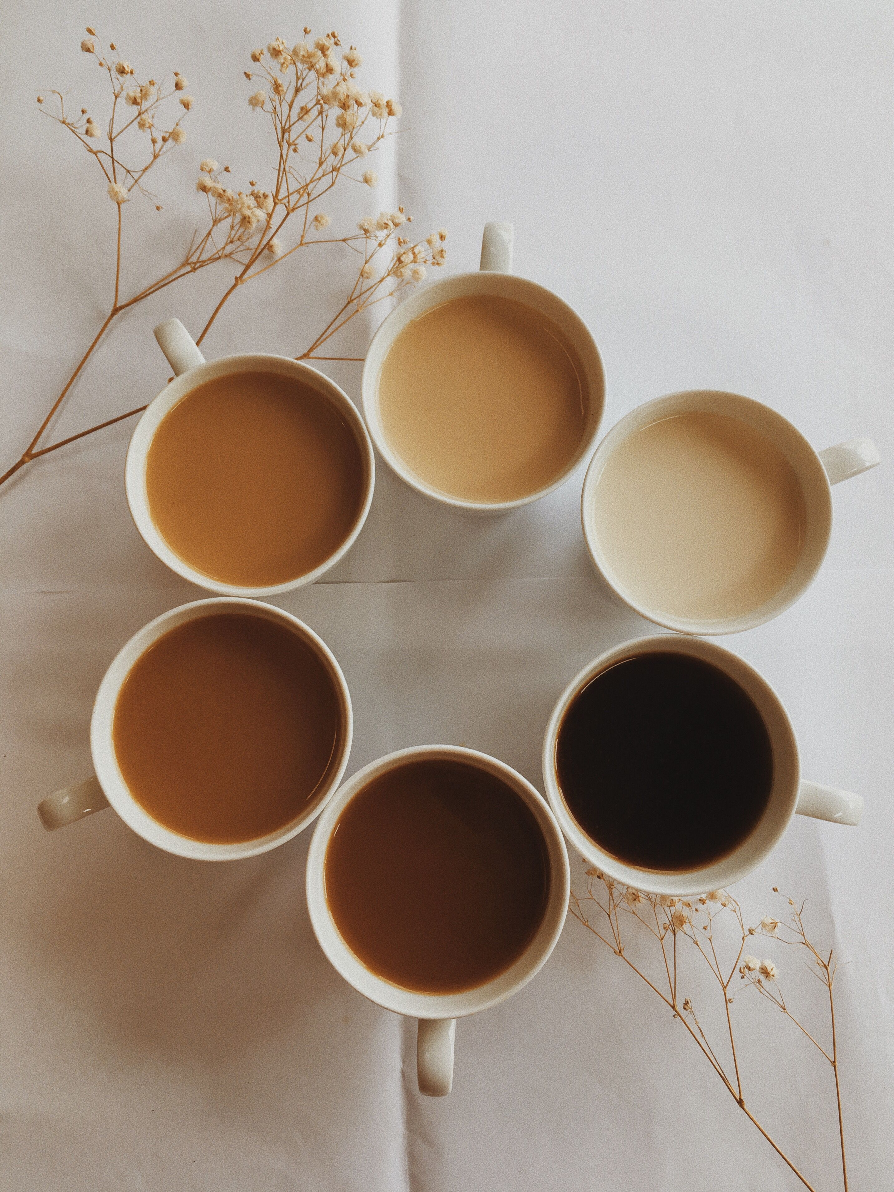 dark brown aesthetic spring coffee photography (With