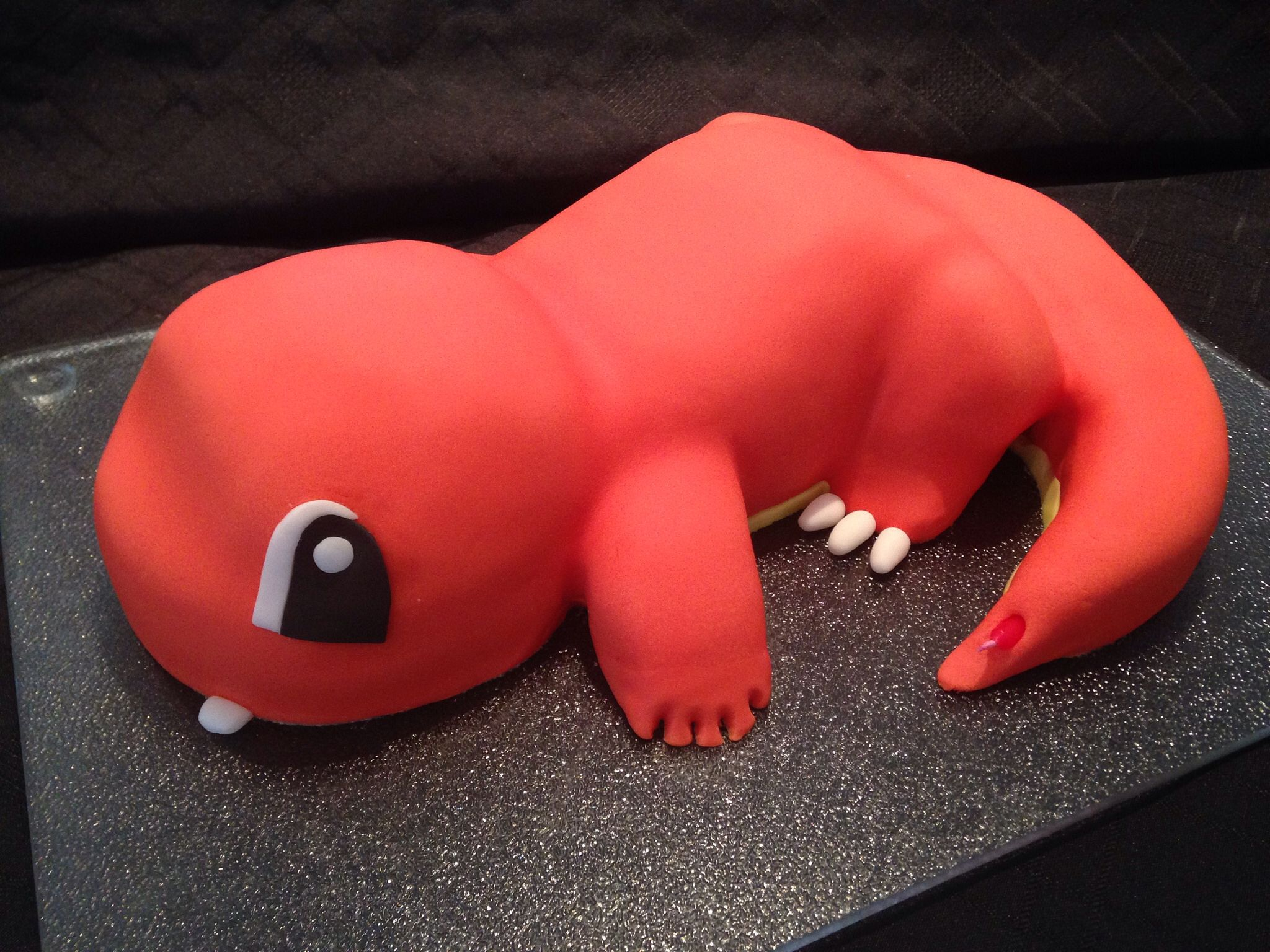 how to make a 3d charmander cake