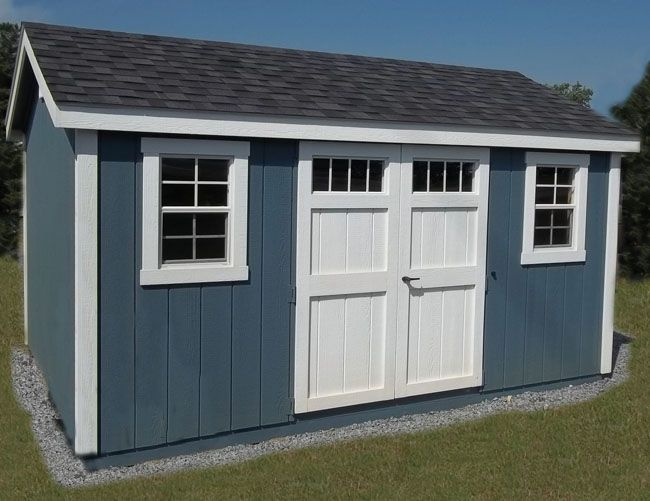 Garden Sheds 8 X 16 ned painted a-frame - wedgewood blue, white, dual black, 8x16