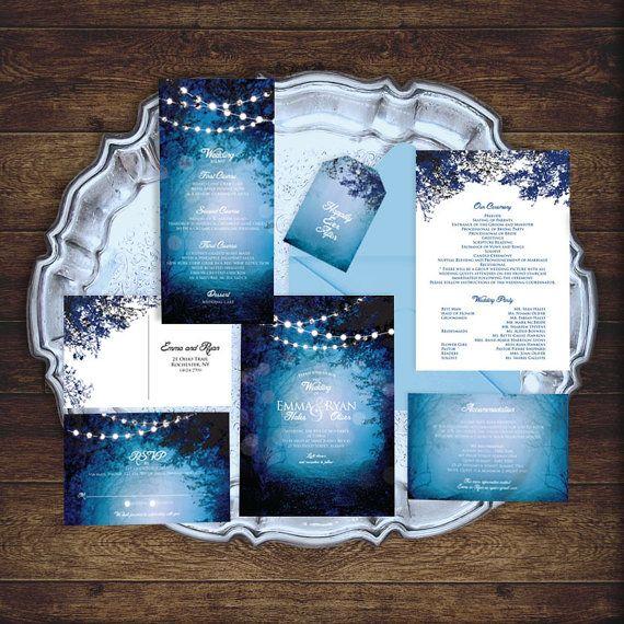 printable woodland wedding set invitation suite by idoityourself