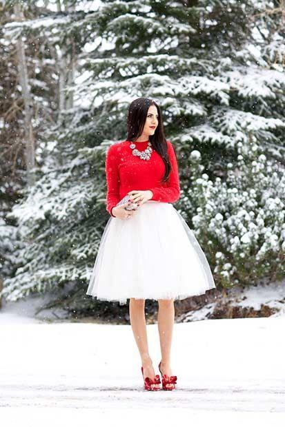 Tulle Skirt Christmas Outfit Idea - 39 Cute Christmas Outfit Ideas Cute Christmas Outfit Ideas