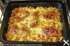 Bratkartoffelauflauf mit Schnitzel #carneconpapas