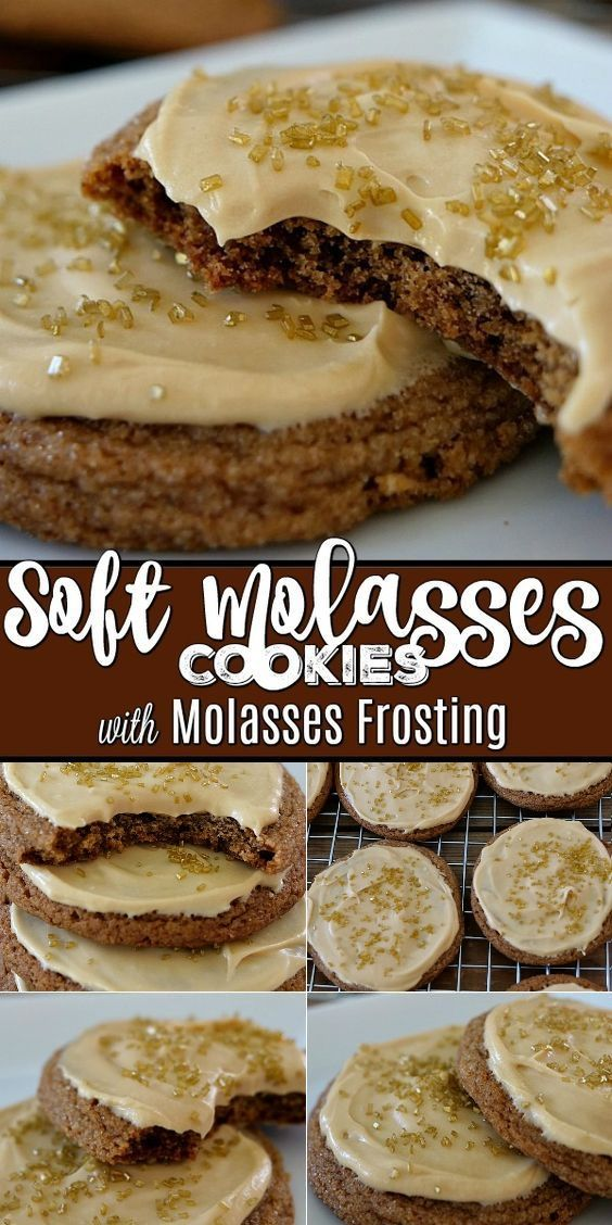 Photo of Soft Molasses Cookies with Molasses Frosting