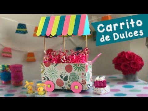 Carreta con abatelenguas mesa de dulces chuladas - Como hacer un carrito de chuches paso a paso ...