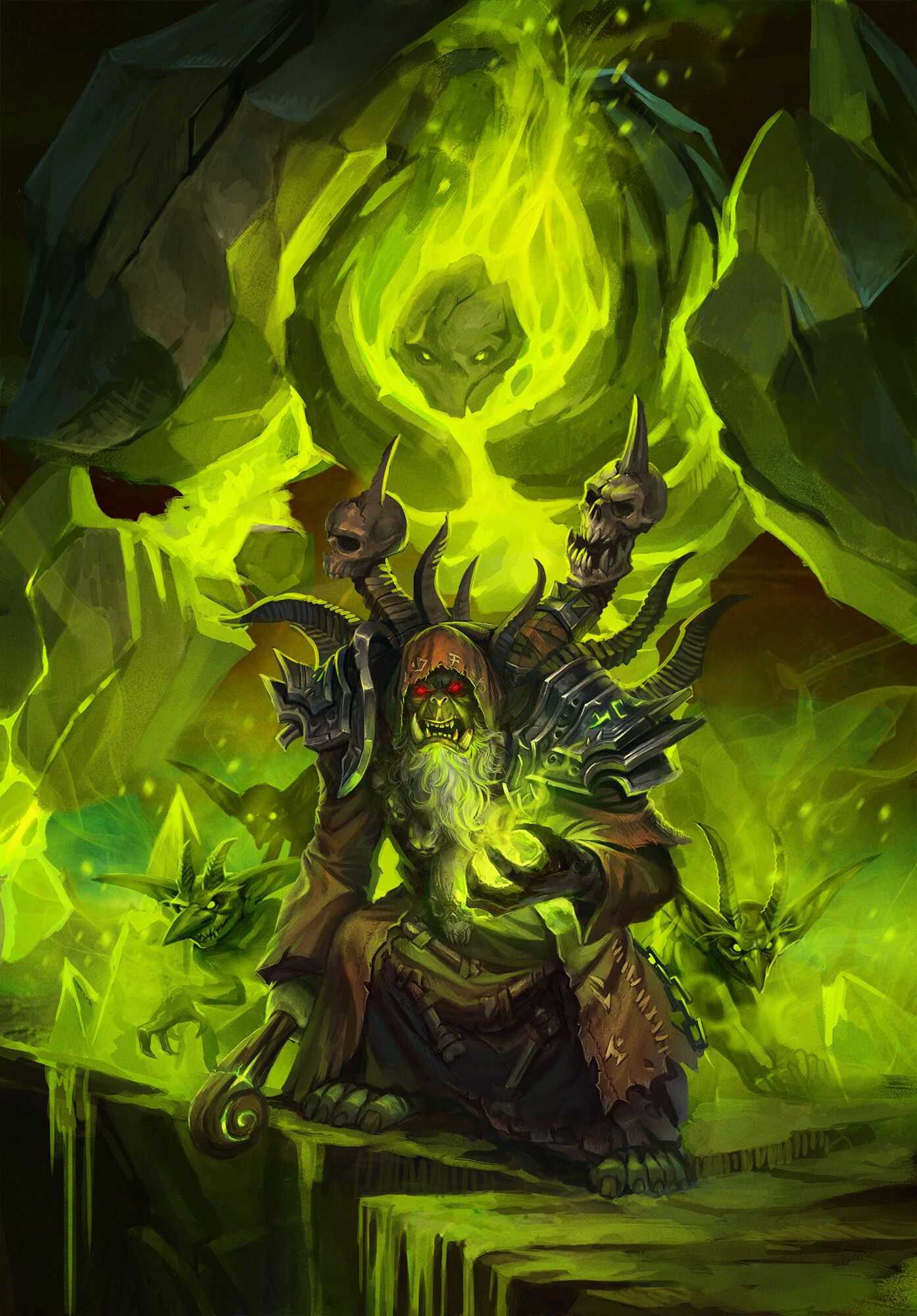 Gul Dan By Klaher Baklaheri Love The Universe Of Warcraft From An Early Age I Will Say More I Bec Warcraft Art World Of Warcraft World Of Warcraft Wallpaper