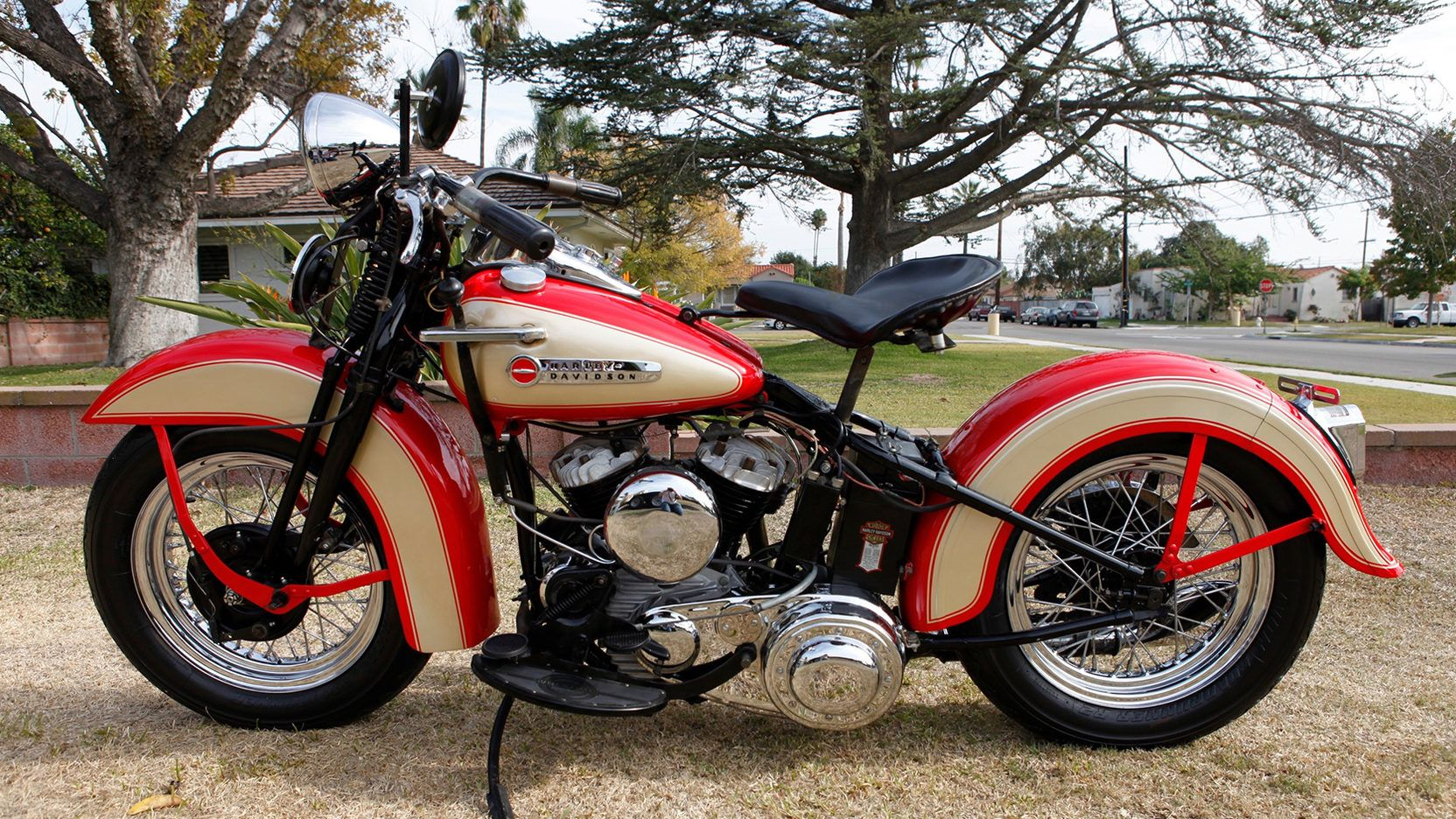1948 Harley Davidson Wl Model 2 Print Image Harley Davidson Harley Shovelhead Harley
