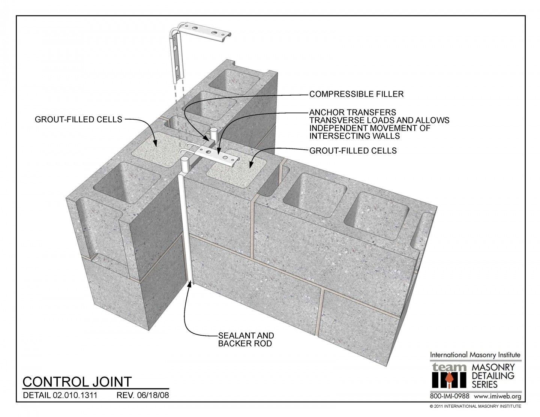 02 010 1311 Concrete Block Walls Masonry Building Foundation