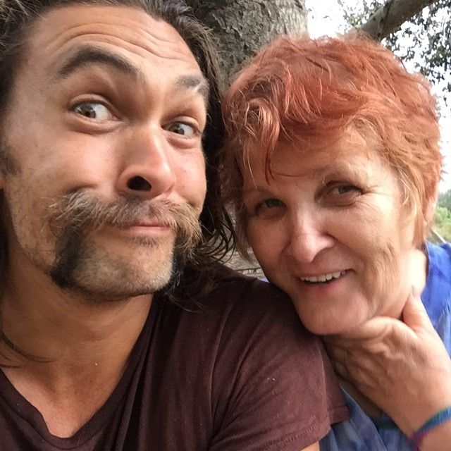 Jason Momoa 50 Shades: Jason Momoa With His Mom! Instagram Photo By