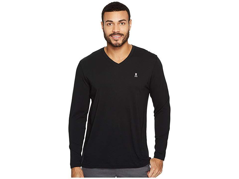 Psycho Bunny Mens Psycho Long Sleeved T-Shirt in Black