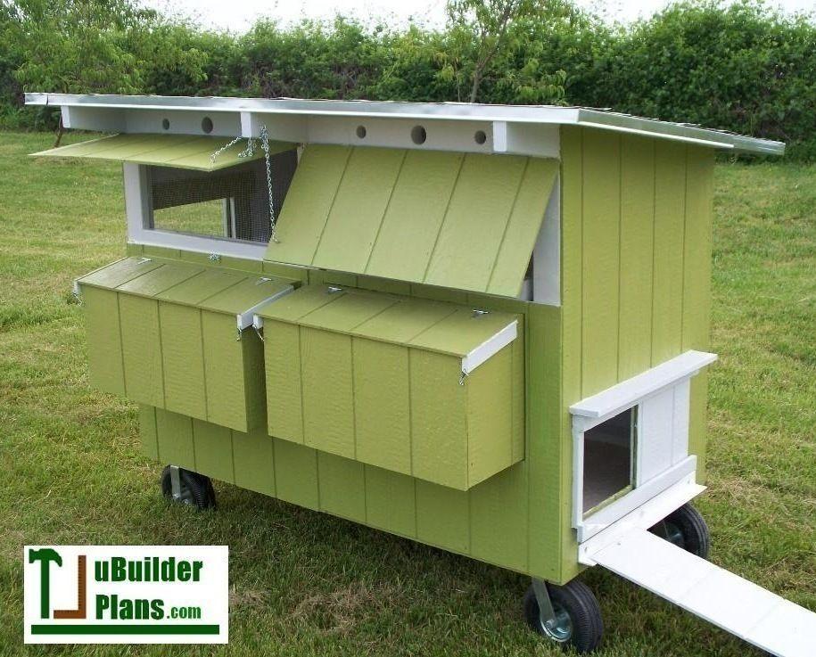 Doublewide pastured poultry chicken coop building plan