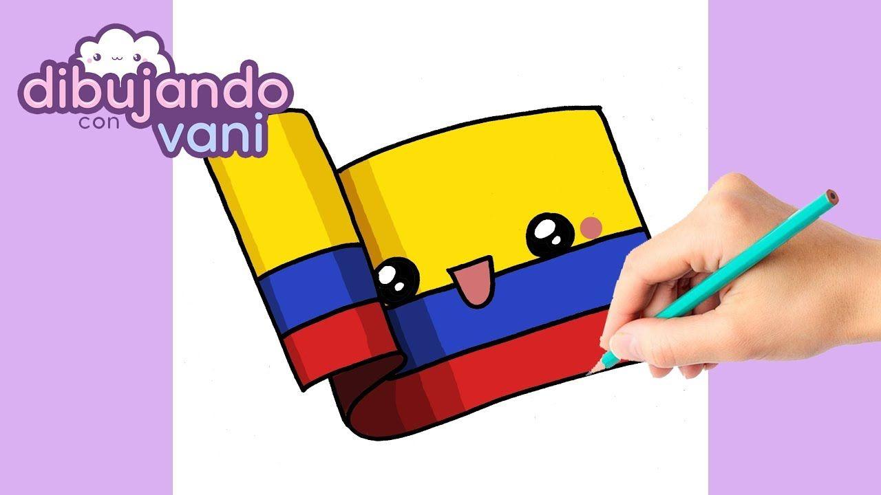Como Dibujar Bandera De Colombia Kawaii Dibujos Imagenes Faciles Anime Bandera De Colombia Bandera De Bogota Fotografia De Naturaleza