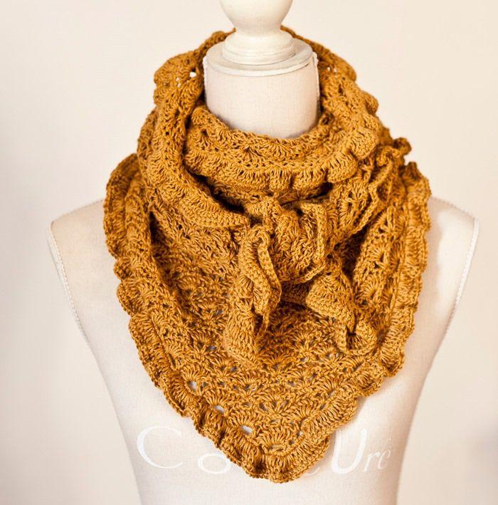 Pañuelo multiuso...   Labores   Pinterest   Crochet bufanda y Labores