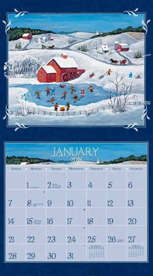 Lang Folk Art  Wall Calendar  FullSize Wall Calendars