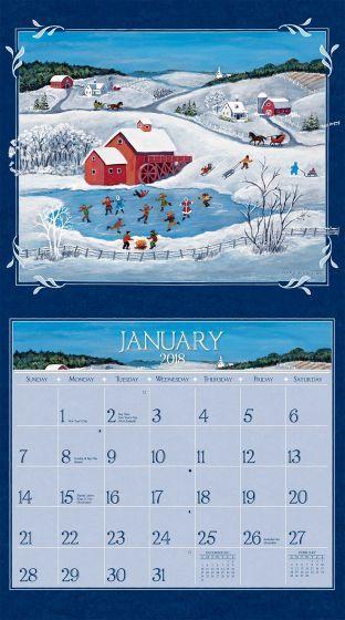 Lang Folk Art  Wall Calendar  FullSize Wall Calendars