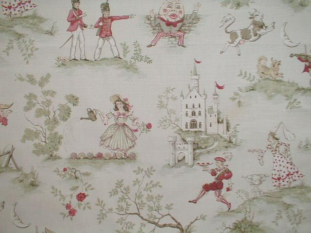 Vintage Nursery Rhyme Toile I Came This Close To Making