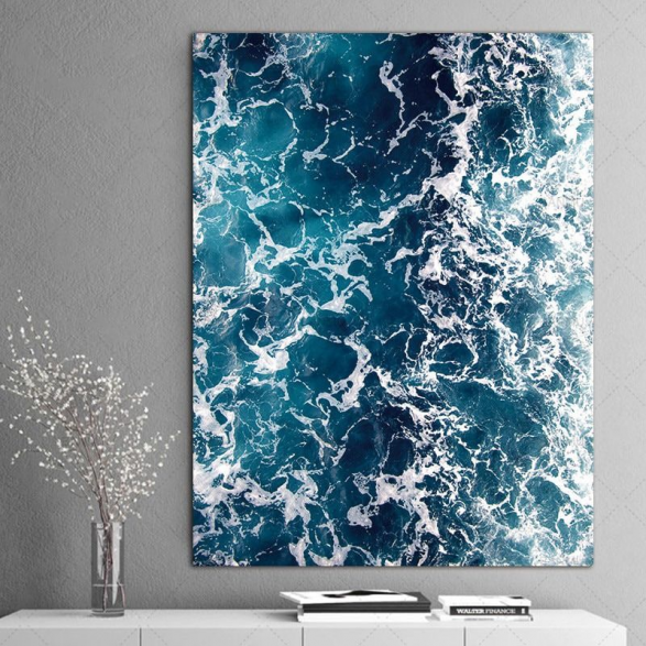 Sea Waves Wall Art HD | Stunning Wall arts for your living room #wallart #canvasart #homedecor #livingroomdecor #wallart #wall #art #pictures