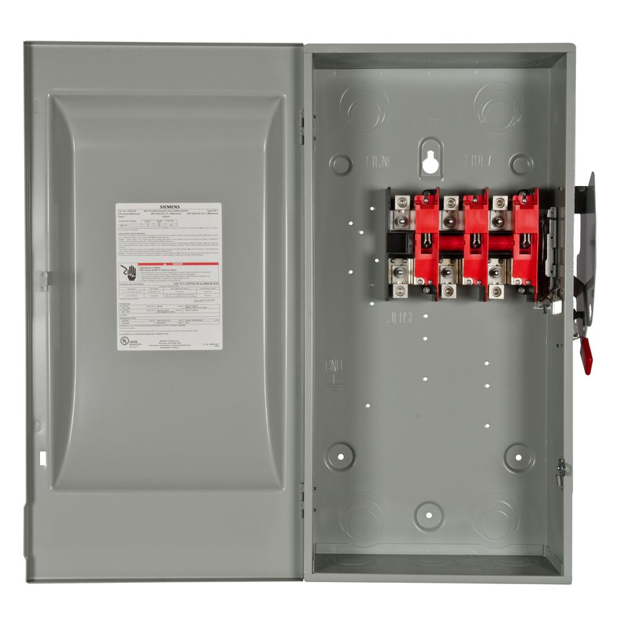 Siemens 200 Amp 3 Pole Non Fusible General Duty Safety Switch Disconnect Gnf324 In 2020 Safety Switch Locker Storage Safety