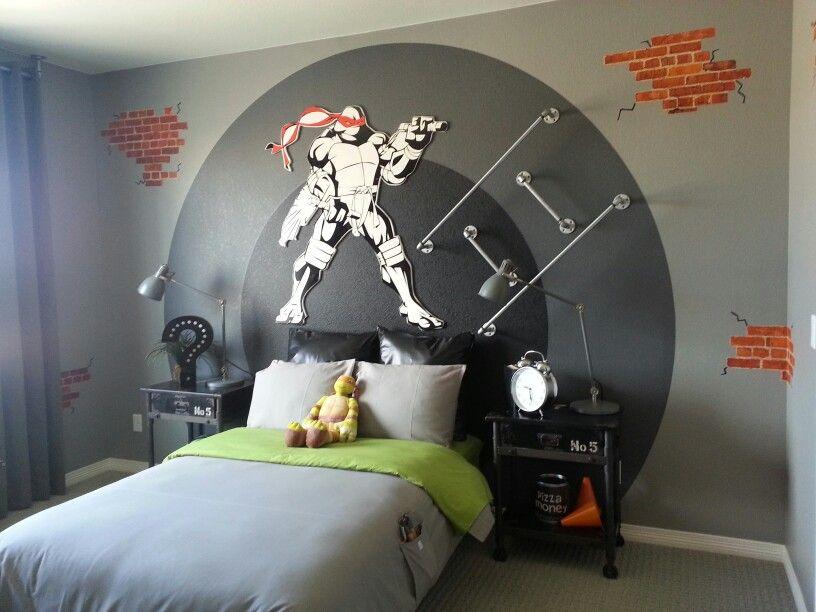 Teenage Mutant Ninja Turtle Room By Designer Christine Di Annie Tmnt Room Turtle Room Kid Room Decor