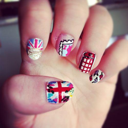 British Nail Art By Lookathernails Nails Pinterest Nails