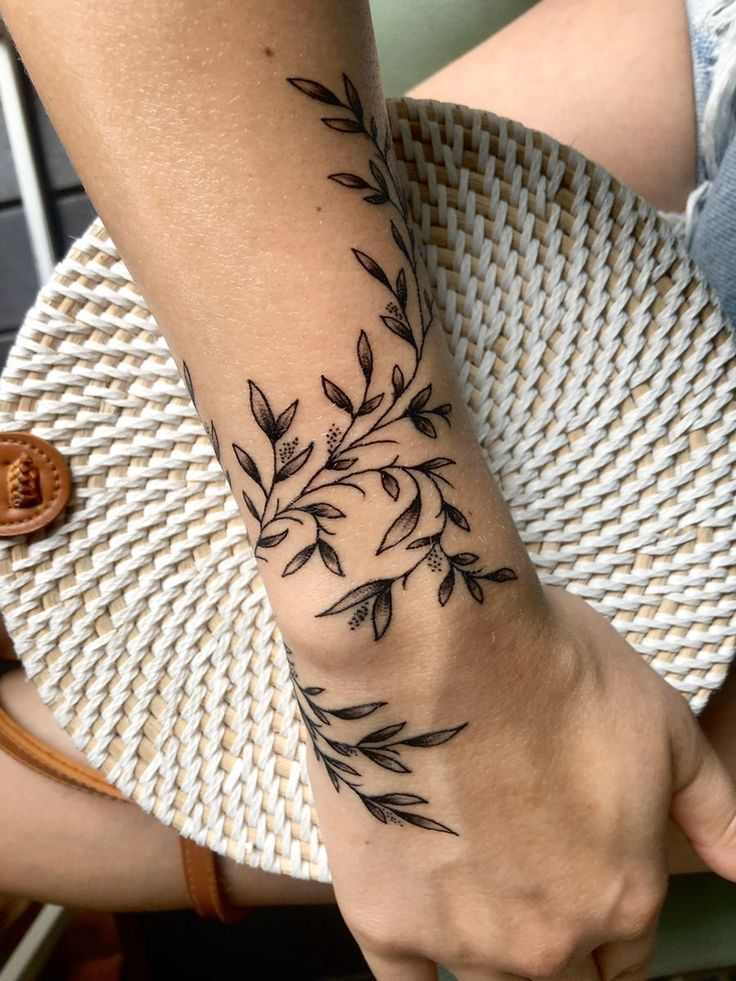 Wraparound vines in 2020 Wrap around wrist tattoos, Wrap