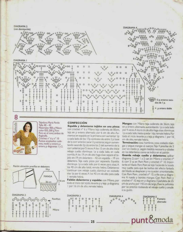 Instrucciones | crochet patrones | Pinterest | Patrones blusas ...
