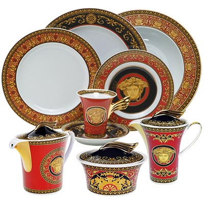 Versace Medusa Red Collection Dining Set Costco Canada Red Decor Dinnerware Sets Colors Of Fire