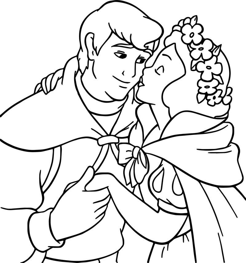 Snow White And The Kiss Prince Coloring Page Fairy Coloring Pages Mermaid Coloring Pages Princess Coloring Pages