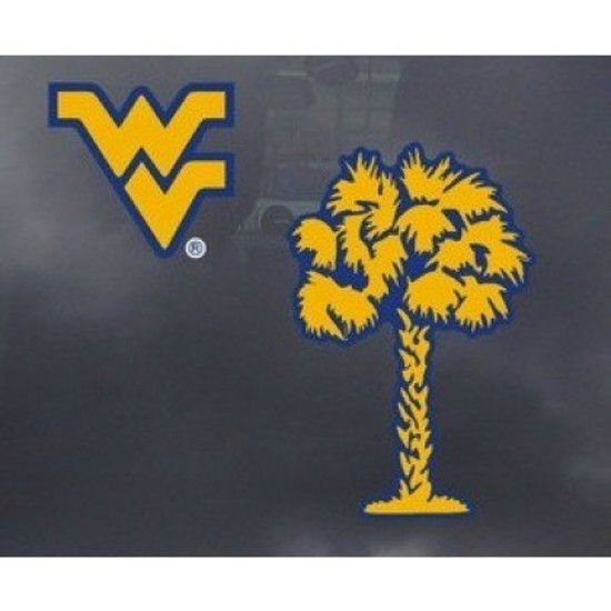 WVU WV Logo Palm Decal #wvumountaineers