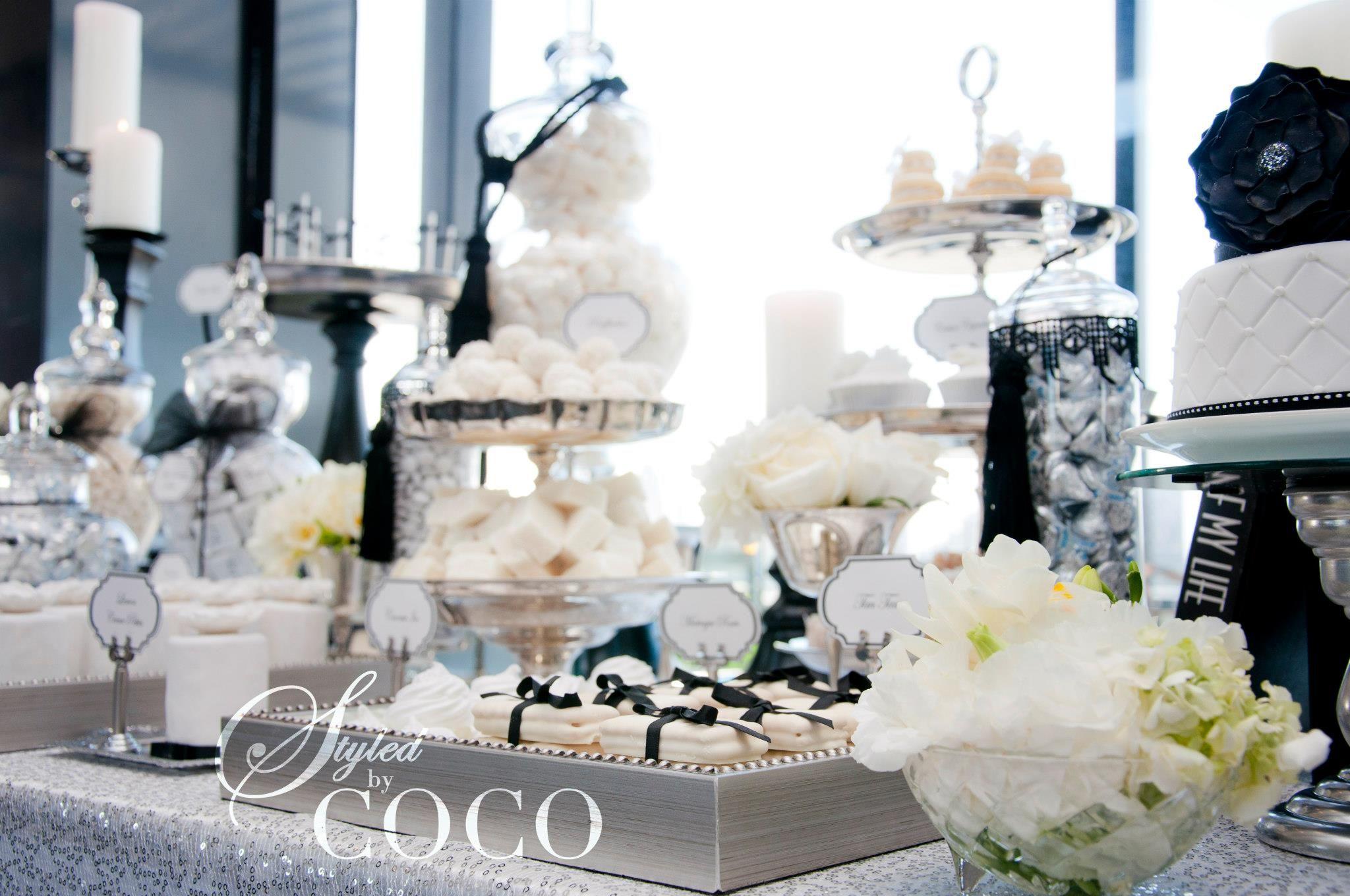 Black & White French Wedding Dessert Table | Pinterest | French ...