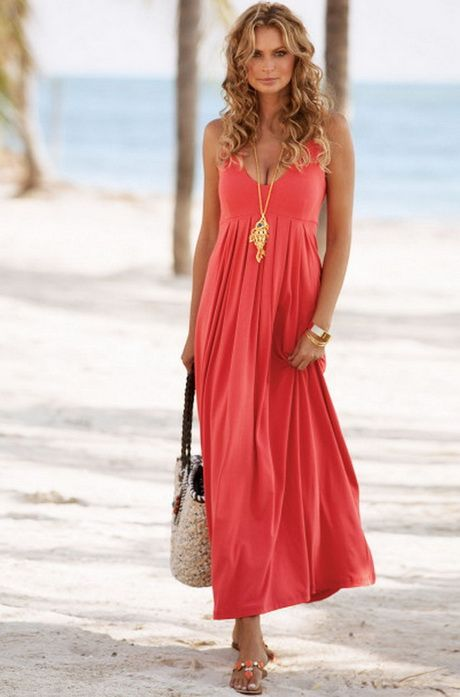 Coral Summer Dress for Wedding