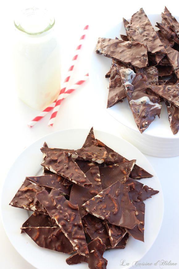 Chocolate Bark, so easy to make! - La Cuisine d'Helene