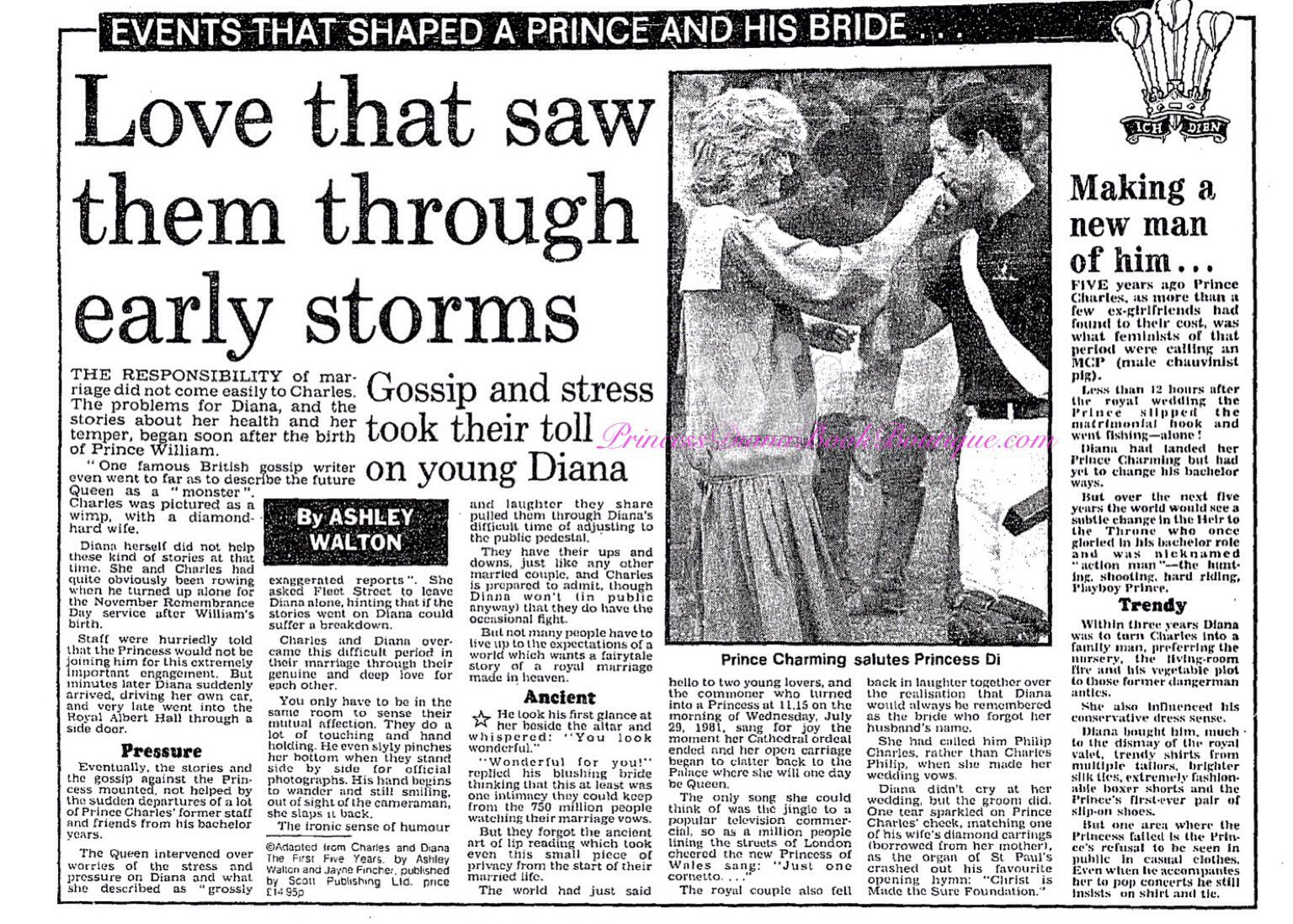 Gossip+ Stress took their toll on young Princess Diana:On our News Article for 16th July 2016.