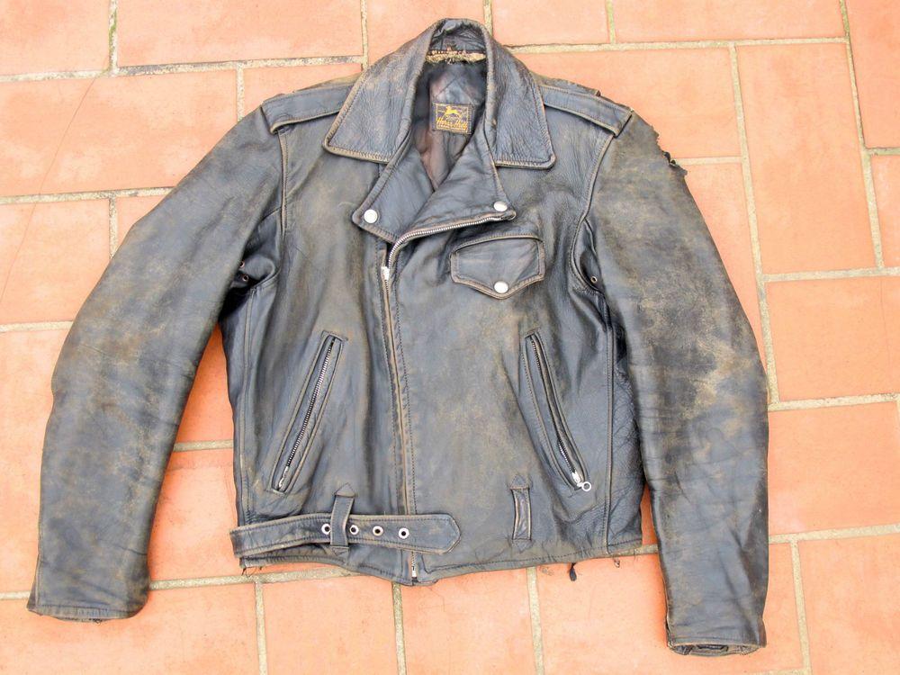 Vintage Original 1940s 1950s Black Motorcycle Leather Jacket Womens 40s 50s Vtg Leather Jacket Leather Jackets Women Leather Motorcycle Jacket