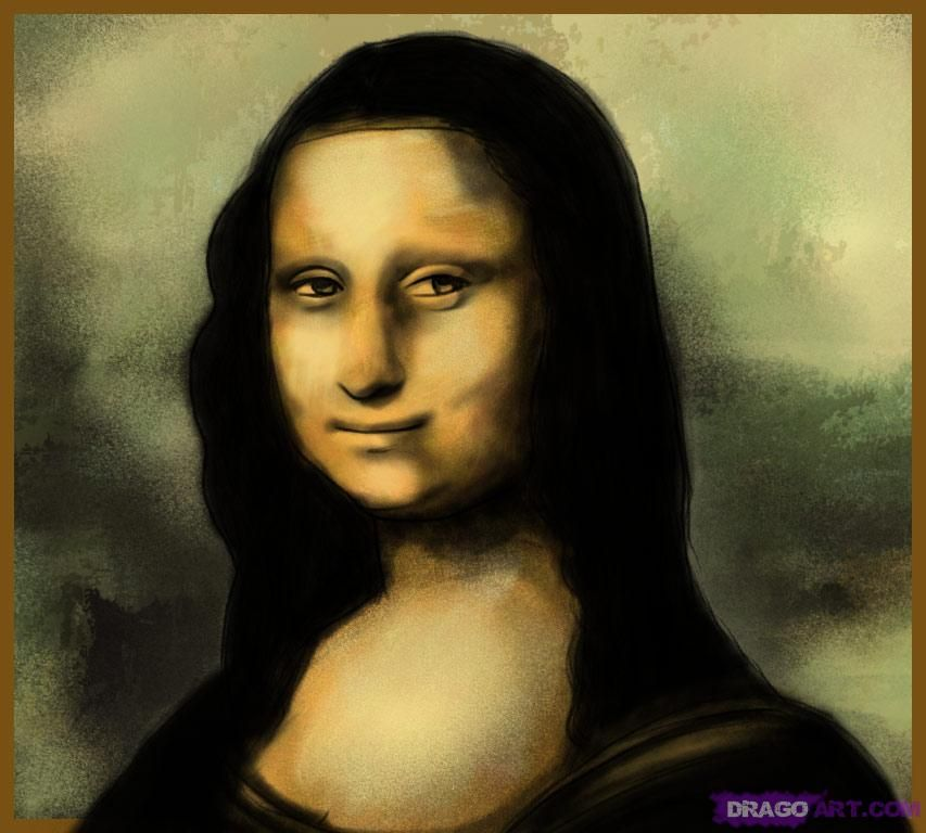 how to draw Mona Lisa, Step by step, Sketch, Drawing Technique, Free ...