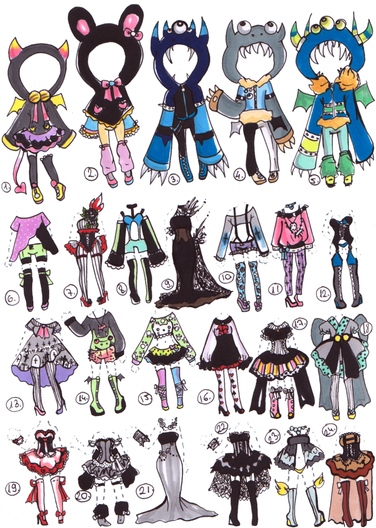 CLOSED-Clothes adoptables by Guppie-Adopts on deviantART ...