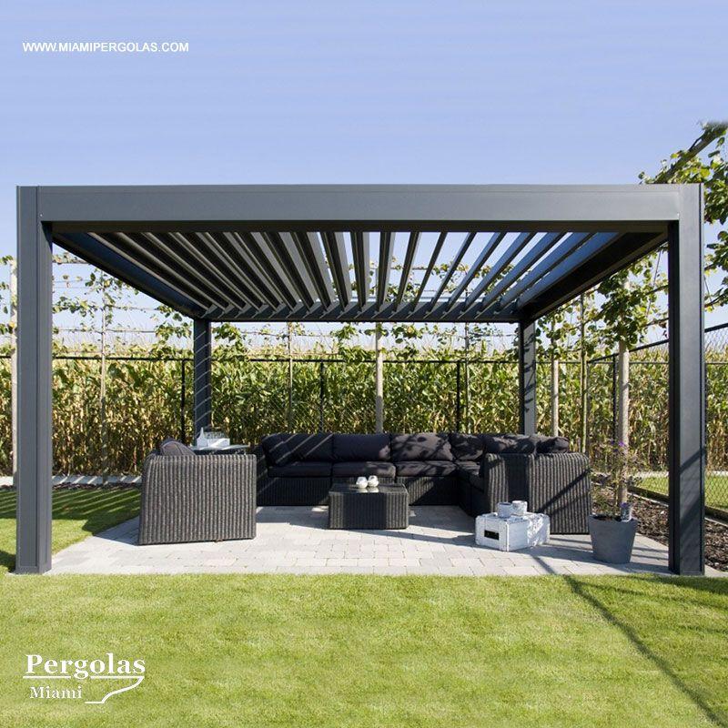 Louvered Roof Systems Completely Made Of Aluminum Allows Light And Breeze When Open Made Of Aluminum Extrusions Piani Pergola Balconi Esterni Tetto Pergolato