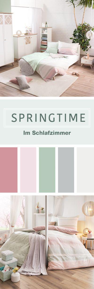 Springtime im Schlafzimmer Möbel Frühlingstrend 2018