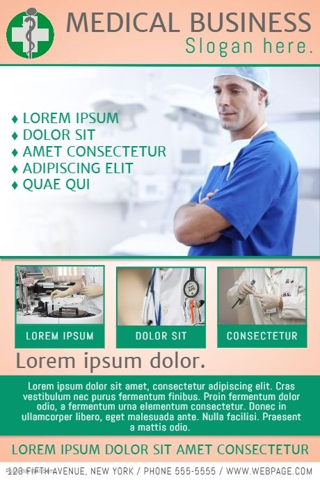 Free medical doctor flyer template for medical business free medical doctor flyer template for medical business postermywall accmission Choice Image