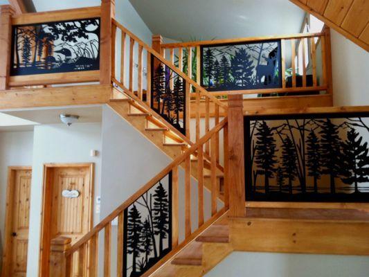 Decorative railing panel inserts for custom metal railing