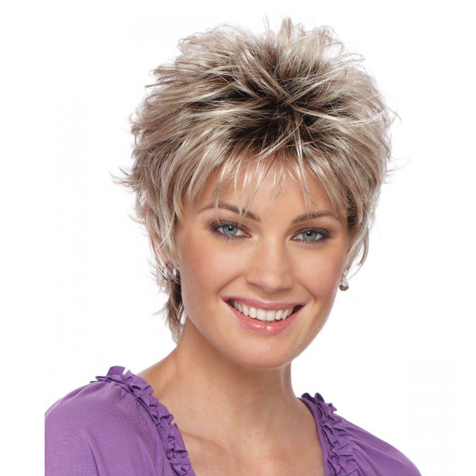 2015 저렴한 가발 여성 Lady'sCheap 짧은 머리 가발 + 가발 그물 선물 내열 합성 머리 가발 무료 배송
