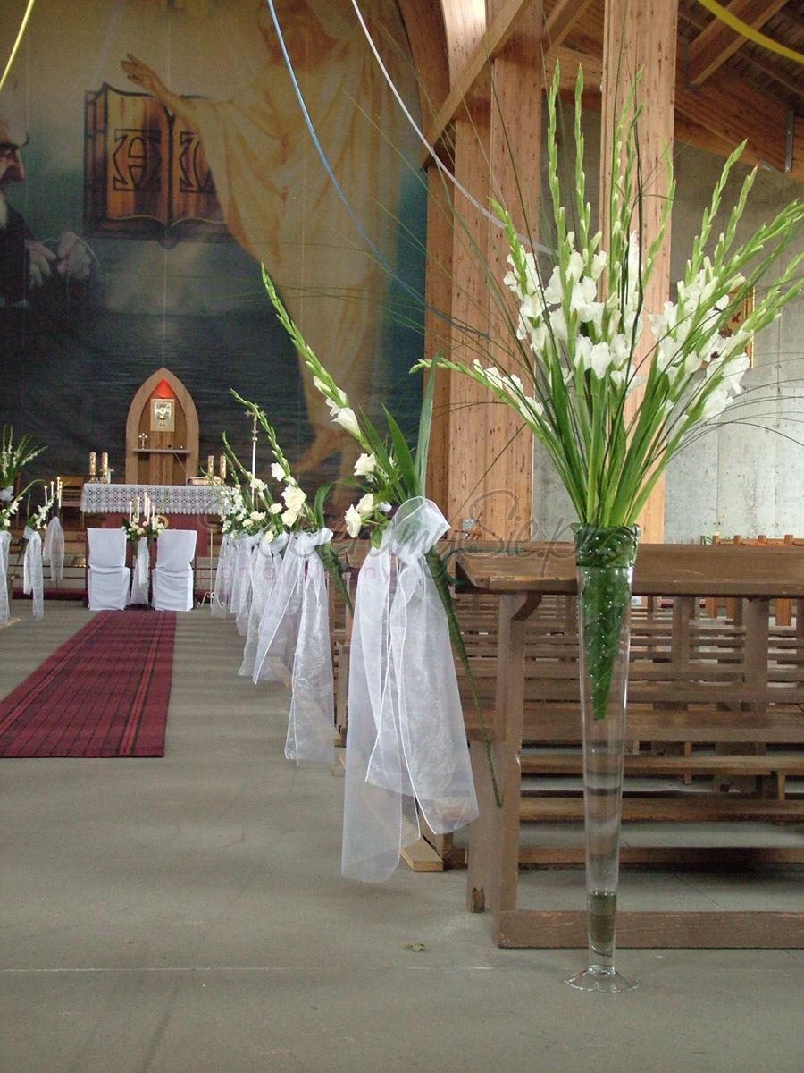 dekoracje ślubne - dekoracja kościoła