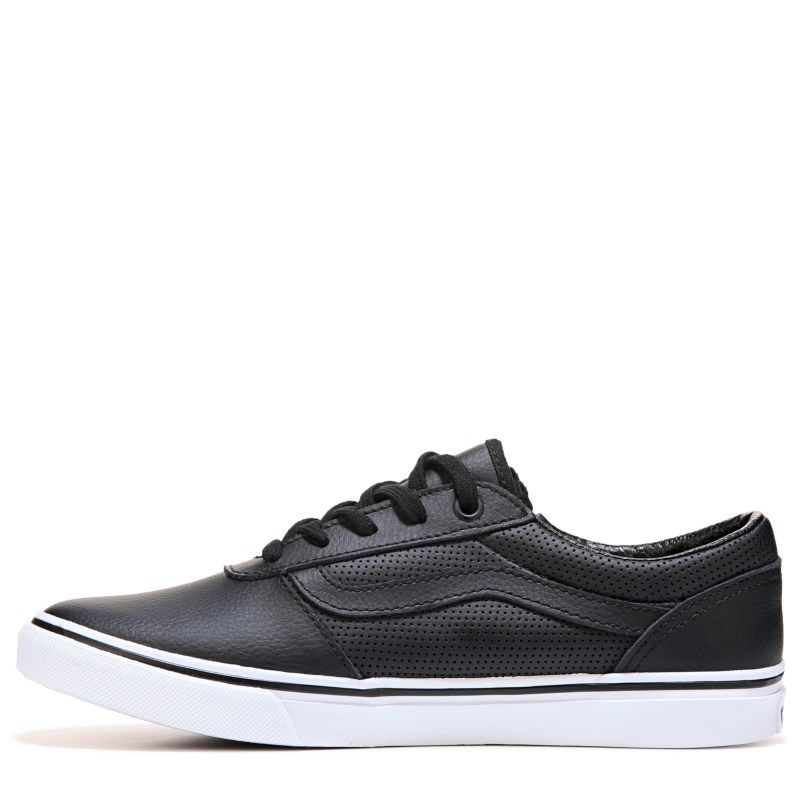 750a79777a Vans Women s Milton Zip Low Top Sneakers (Black Perforated) - 7.0 M