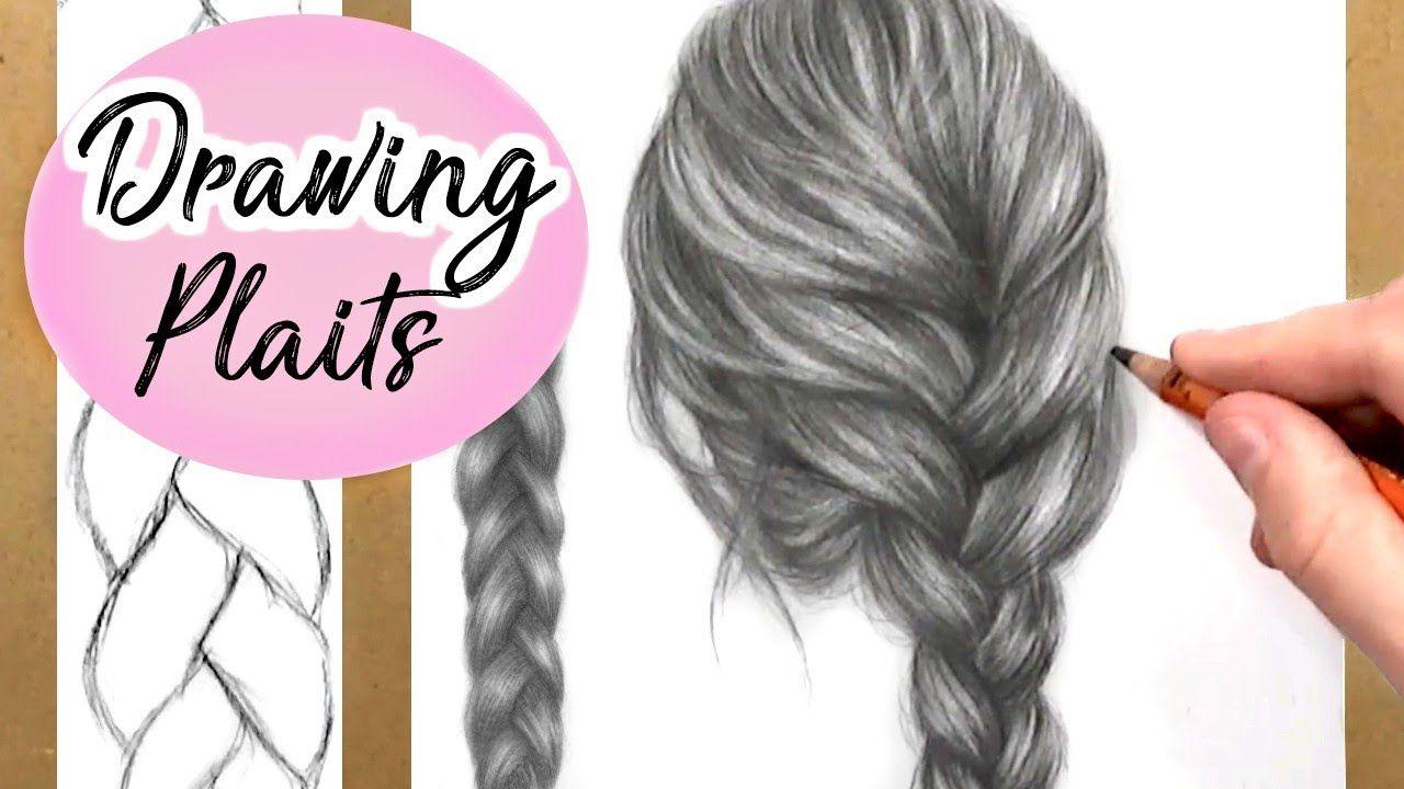 Paintings Plait Braidbraid Hairplaitsdrawing
