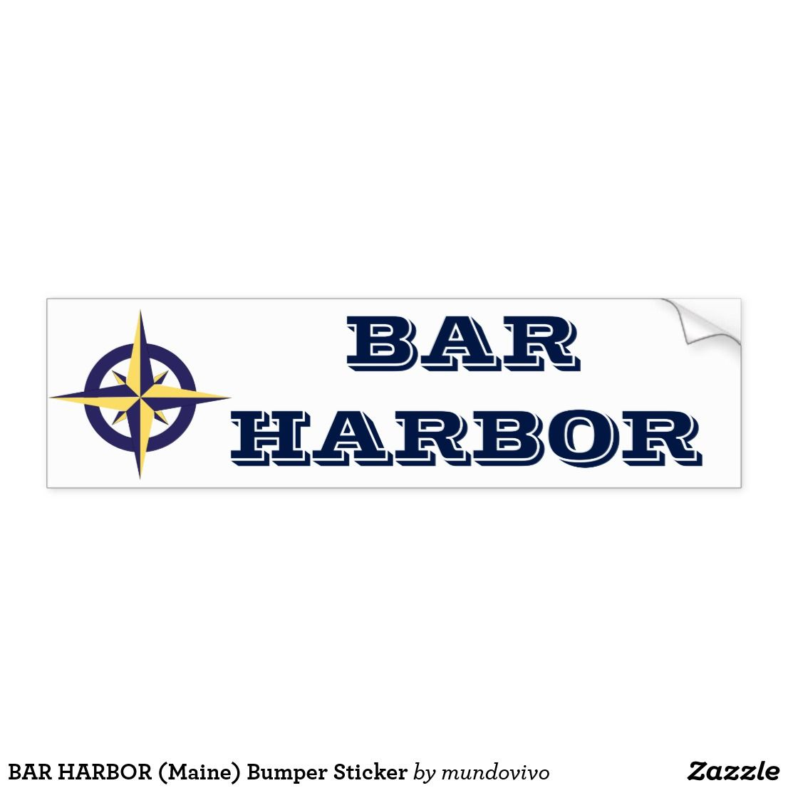 Bar Harbor Maine Bumper Sticker Zazzle Com Bumper Stickers Bar Harbor Maine Bar Harbor [ 1106 x 1106 Pixel ]