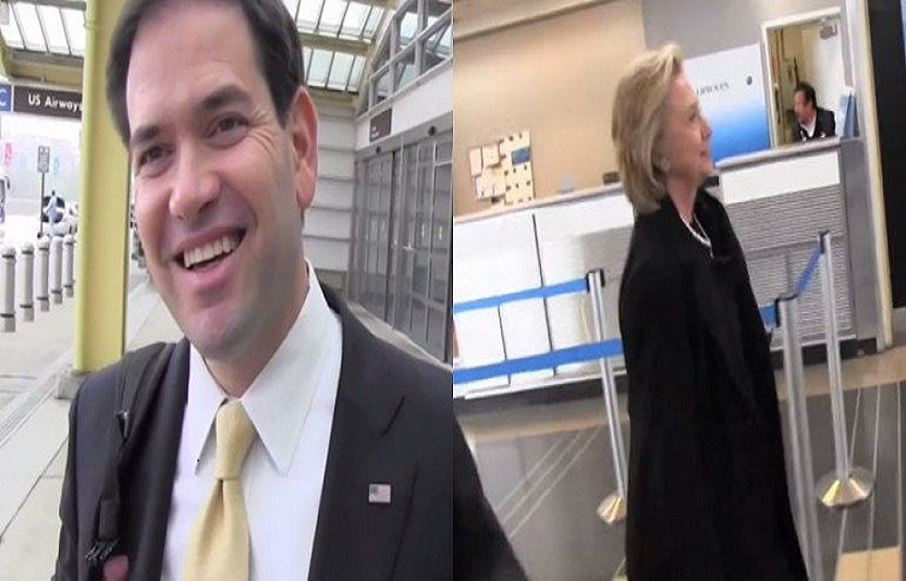 Look at how Marco Rubio Treats TMZ Reporter Compared to Hillary Clinton