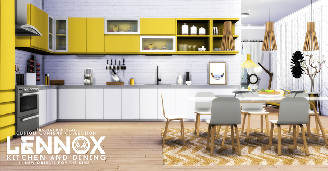 Sims 4 cc 39 s the best lennox kitchen and dining set by for Sims 2 kitchen ideas